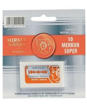 10x Merkur Super Platinum Double Edge Safety Razor Blades
