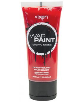 Vixen War Paint Cherry tastic Semi Permanent Hair Colour 100ml