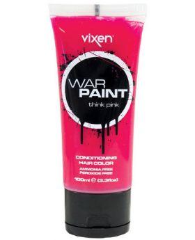 Vixen War Paint Think Pink Semi Permanent Hair Colour 100ml