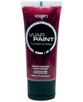 Vixen War Paint Fuchsia Fantasy Semi Permanent Hair Colour 100ml