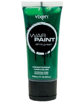 Vixen War Paint Slime Green Semi Permanent Hair Colour 100ml