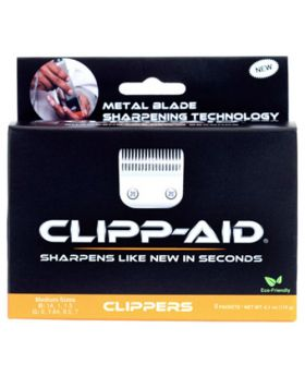 Clipp-Aid Blade Sharpening Crystals For Medium Size Clippers (Orange)
