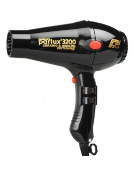 Parlux 3200 Ionic + Ceramic Compact Professional Hair Dryer-Black
