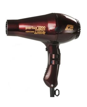 Parlux 3200 Ionic + Ceramic Compact Professional Hair Dryer-Chocolate Cherry