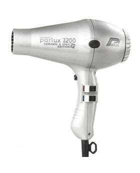 Parlux 3200 Ionic + Ceramic Compact Professional Hair Dryer-Silver