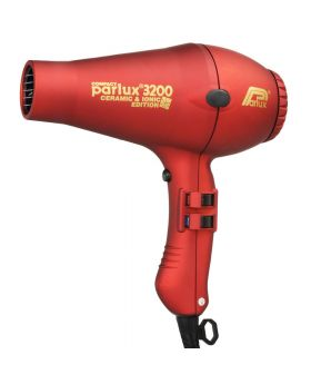Parlux 3200 Ionic + Ceramic Compact Professional Hair Dryer-Red