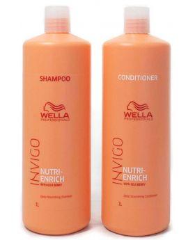 Wella Professionals Invigo Nutri Enrich Shampoo and Conditioner 1L Duo