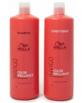 Wella Professionals Brilliance Shampoo & Conditioner 1L Duo