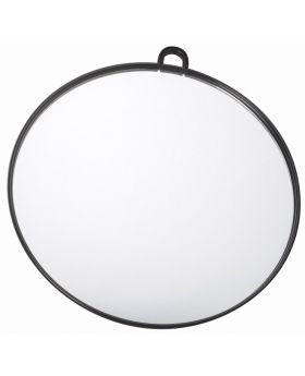 Salon Smart Black Hairdressing Handheld Salon Round Mirror