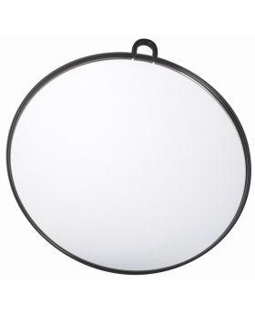 Salon Smart Black Hairdressing Handheld Salon Round Mirror